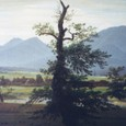 朝の田園風景(孤独な木)(部分)